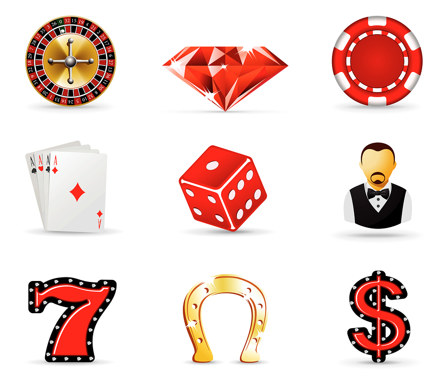 bigstock Casino and gambling icons par 7136498 På casinot